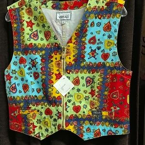 VERSACE youth size 16 vest COLORFUL!